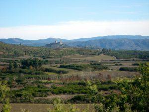 O castelo de Monterrei desde a Salgada